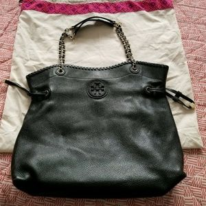 Tory Burch Pebbled Leather Marion Slouchy Tote